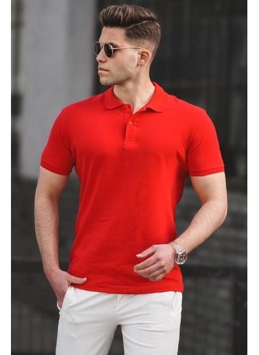 Madmext  Basic Polo Yaka Erkek Tişört 5101 Bordo